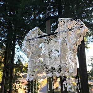 Crochet fringe cropped cover